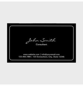 Simple Plain Dark Business Card
