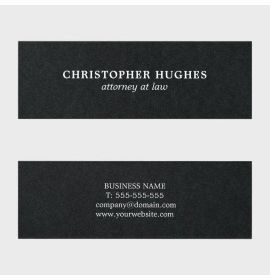 Minimalist Simple Elegant Black White Attorney