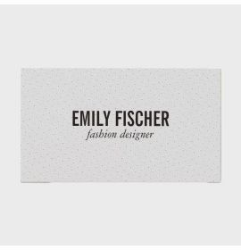 Perforated White Leather Print Business Card