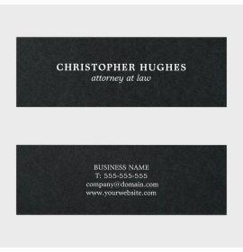 Minimalist Simple Elegant Black White Attorney